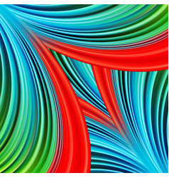 colorful smooth design light lines background red vector image