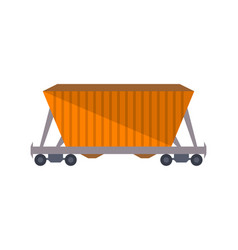 commercial railway freight wagon icon vector image