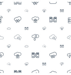 computing icons pattern seamless white background vector image
