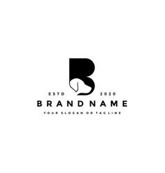 Creative design initials letter b dog vector