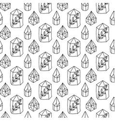 Crystals gem magic seamless pattern vector