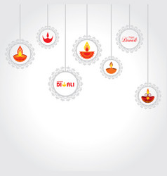 Diwali utsav greeting or poster card vector