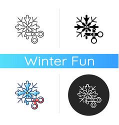diy snowflakes icon vector image