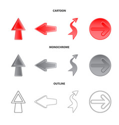 element and arrow logo vector image