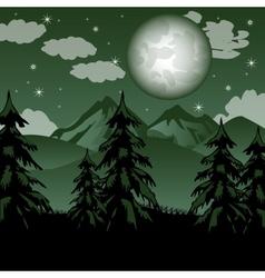 Fantastic mountain landscape vector image
