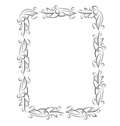 Flourish frame with leaves and berries vector