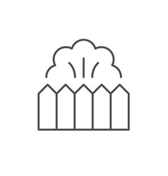 garden fence line outline icon vector image