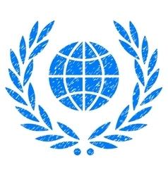 Global Emblem Grainy Texture Icon vector