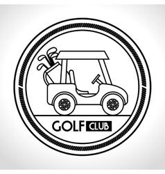 Golf club cart icon vector