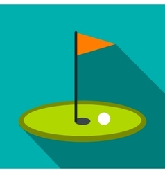 Golf flag flat icon vector