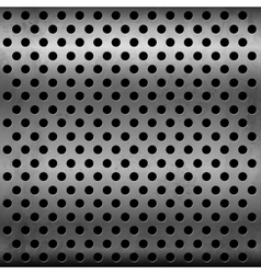 Gray metallic plate with perforation vector