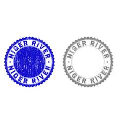 Grunge niger river scratched watermarks vector