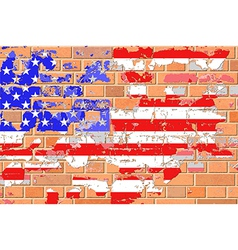 Grunge United States Flag vector image vector image