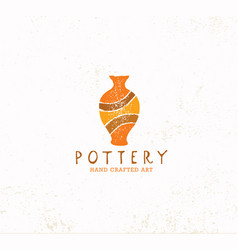 handmade clay pottery workshop artisanal creative vector image