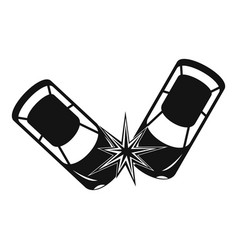 Hard collision icon simple style vector