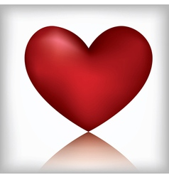 heart on the white background vector image