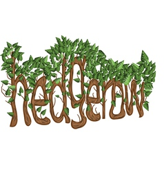 hedgerow vector image