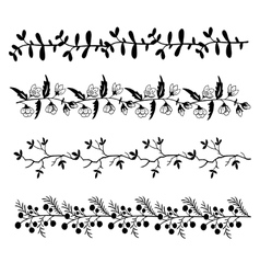 High quality original set of floral pattern for vector image