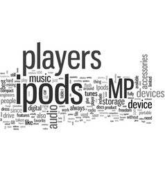 ipods vector image