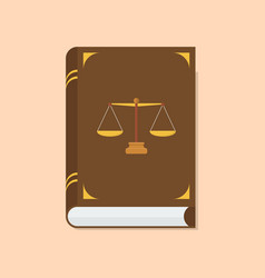 law and justice book icon vector image