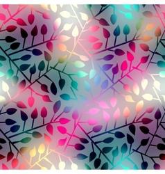 Leaves geometric pattern vector