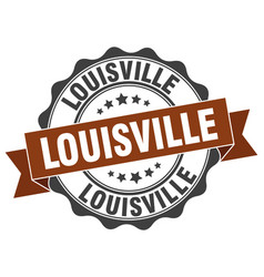 Louisville round ribbon seal vector