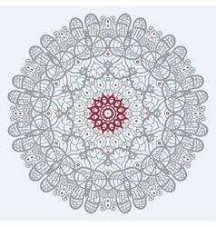 Mandala Print in red and grey color vector image