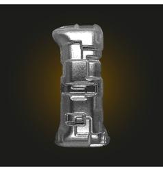 Metal figure 1 vector