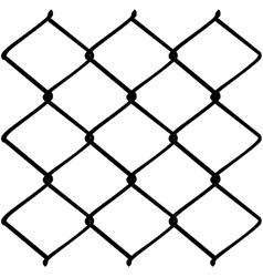 Metal mesh fence2 vector