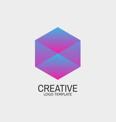 modern hexagon logo abstract hexagonal logotype vector image