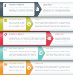 Modern Minimalistic Infographics Options Template vector image