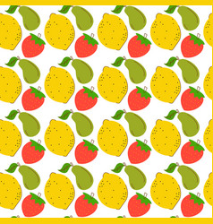 pattern seamless three element fruits colorful vector image