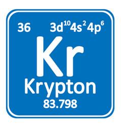 Periodic table element krypton icon vector