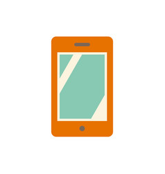 pictograph of mobile vector image