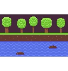 Pixel Game Background vector image