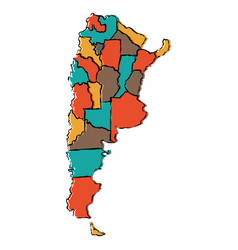 Political map of argentina vector