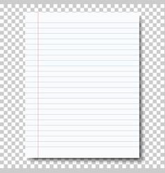 Ruled sheet notebook paper vector