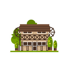 Rural building countryside construction vector