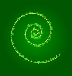 saint patricks day background with spiral of vector image