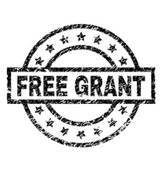 Scratched textured free grant stamp seal vector