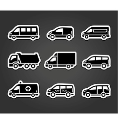Set of sticky stickers transport signs vector image