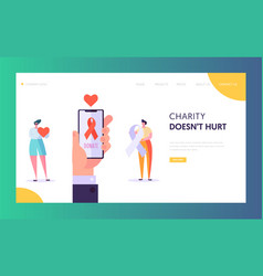 Share hope landing page charity save life vector