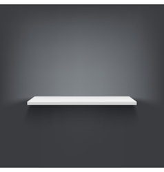 Shelf attached to wall vector