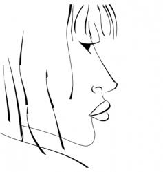Sketch of woman vector