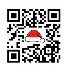 Smartphone readable qr code xmas and new year vector