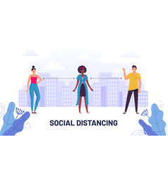 Social distancing guide protective meter and vector