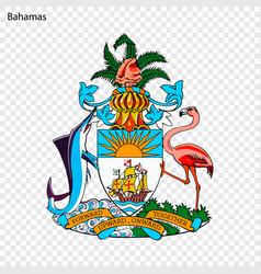 symbol of bahamas vector image