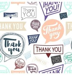 Thank you speech Seamless pattern vector