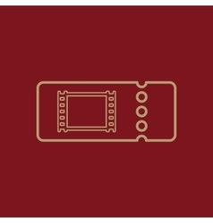 The blank cinema ticket icon vector