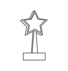 trophy star win image outline vector image